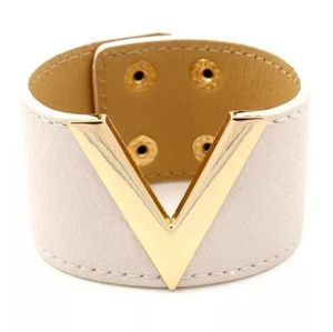 CREAM 1.5in wide & 8in long cuff bangle bracelet